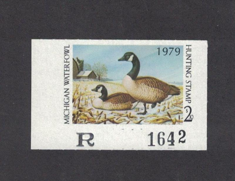 MI4 - Michigan State Duck Stamp. Single. MNH. OG.