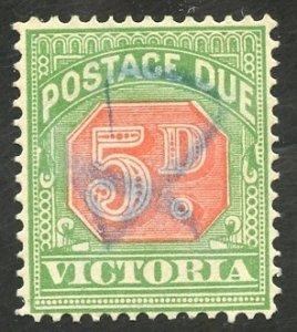 Australian States-Victoria Scott J19 UVFVLH - 1894 5p Postage Due - SCV $22.50