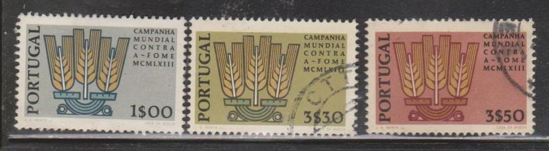 PORTUGAL Scott # 903-5 - Used - 1963 Freedom From Hunger Issue