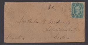 **CSA Cover, SC# 12, Newberry, S.C. Tied by Black Double Circle CDS