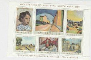 Sweden Celebrating Ivan Agueli 1969 Stamps Sheet Mint Never Hinged ref R 16746