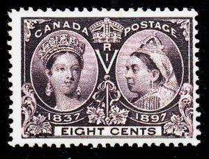 CANADA Sc 56 Mint Never Hinged Original Gum 8¢ Jubilee NIce!