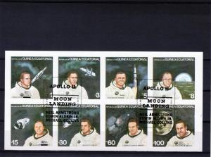Equatorial Guinea 1979 Astronauts ovpt.Apollo 11 Shlt(8)Imp.