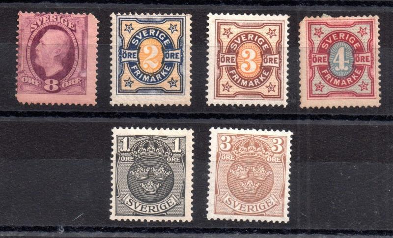 Sweden 1891-1911 mint MH collection CV £32 WS6023
