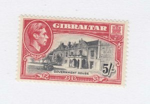 GIBRALTAR SG # 129b SCT # 116 VF-MNH KGV1 5sh GOVERNMENT HOUSE