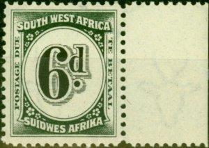 South West Africa 1931 6d Black & Slate SGD51 Very Fine MNH