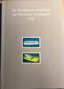 Dt. Bundespost 1978 BRD and Berlin MNH Commemoratives Complete Year in booklet