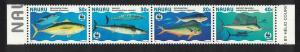 Nauru WWF Giant Fish Strip of 4v SG#458-461 MI#437-440 SC#443 a-d