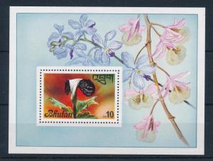 [50211] Bhutan 1976 Flowers Orchids Souvenir sheet MNH