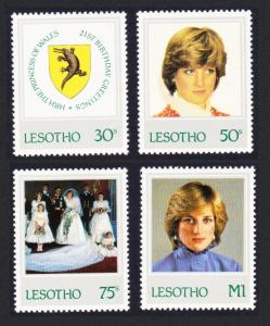 Lesotho 21st Birthday of Princess of Wales 4v SG#514-517 SC#372-375