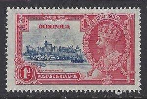 Dominica, Scott #90; 1p King George V Silver Jubilee, MH
