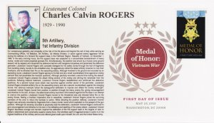 6° Cachets 4823 Medal of Honor Vietnam War African-American Charles Rogers DCP