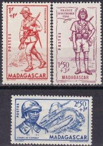 Madagascar #B8-10 F-VF Unused  CV $4.75  (Z5325)