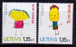 Lithuania 999, 1001 MNH - Mothers Day / Fathers Day