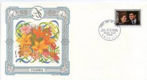 Uganda 1986 Royal Wedding Prince Andrew  Sarah Sc 510 Fargusan Flower Orchid ...