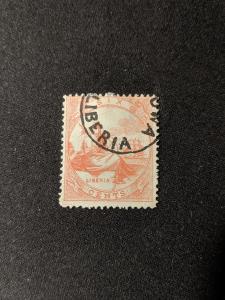Liberia 7 F-VF, CV $85