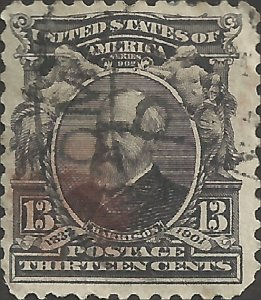 # 308 Purple Black Used Minor Fault Benjamin Harrison