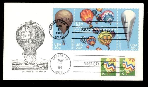 Balloons #2035a & #2530 Dual FDC