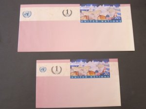 United Nations (NY) 2 pre-stamp cover mint