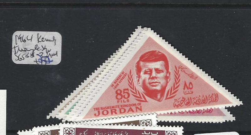 JORDAN (PP2310B)  TRIANGLE STAMPS KENNEDY  SG 588-593     MNH