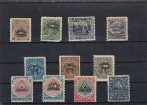 EL SALVADOR  MOUNTED MINT OR USED STAMPS ON  STOCK CARD  REF R1023