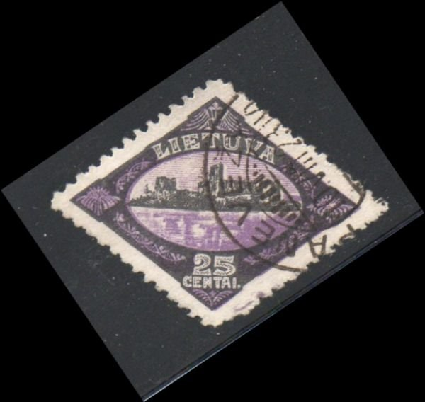Lithuania Sc 182 1923 25 c Trakai Ruins stamp used