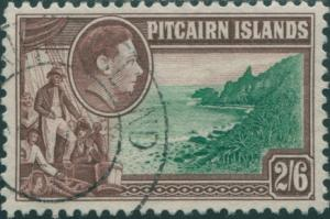 Pitcairn Islands 1940 SG8 2/6d Christian crew and coast FU