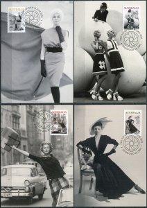 Australia. 2021. Fashion of the mid-20th century (Mint) Set of 4 Maxi Cards