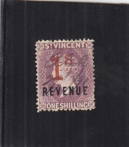 St. Vincent Revenue Tax Stamp, 1/S, Sc #25 (24908)