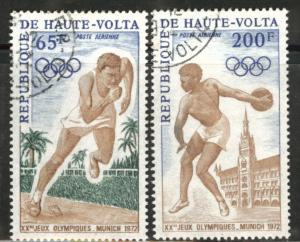 Burkina Faso Upper Volta Scott C102-103 1972 Olympic set