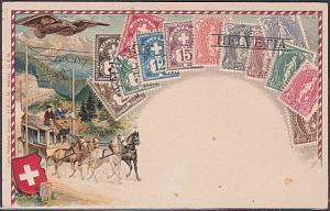 SWITZERLAND c1910 Embossed stamp postcard unused.............................490