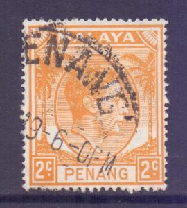 Malaya Penang Scott 4 - SG4, 1949 George VI 2c used