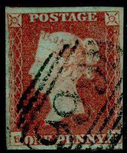 SG8, 1d red-brown, FINE USED. Cat £30.