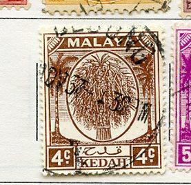 Kedah USED Scott Cat. # 64