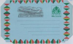 65828  -  GUYANA - Postal History - AEROGRAMME : AIRPLANE 25 cents