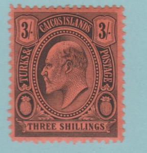 Turks und Caicos Inseln 22 Postfrisch mit Scharnier Og - keine Fehler Sehr Fein