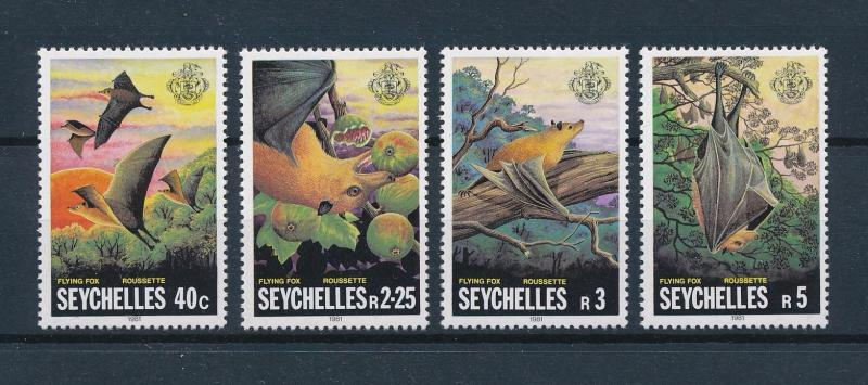 [60197] Seychelles 1981 Wild animals Flying fox MLH