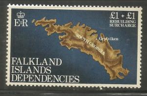 FALKLAND ISLANDS   1LB1   MNH,  REBUILDING TYPE