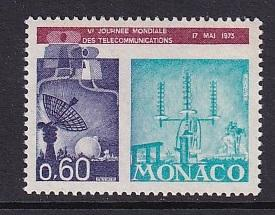 Monaco      MNH  1973   telecommunications day