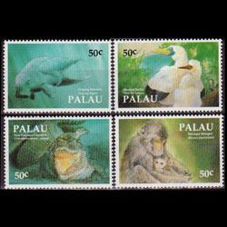 PALAU 1993 - Scott# 313a-d Fauna Set of 4 NH