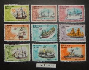 Christmas Island 39-54. 1972-73 Ships, NH
