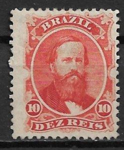 1866 Brazil 53 Dom Pedro 10r no gum