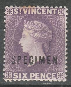 ST VINCENT 1885 QV 6D VIOLET  SPECIMEN