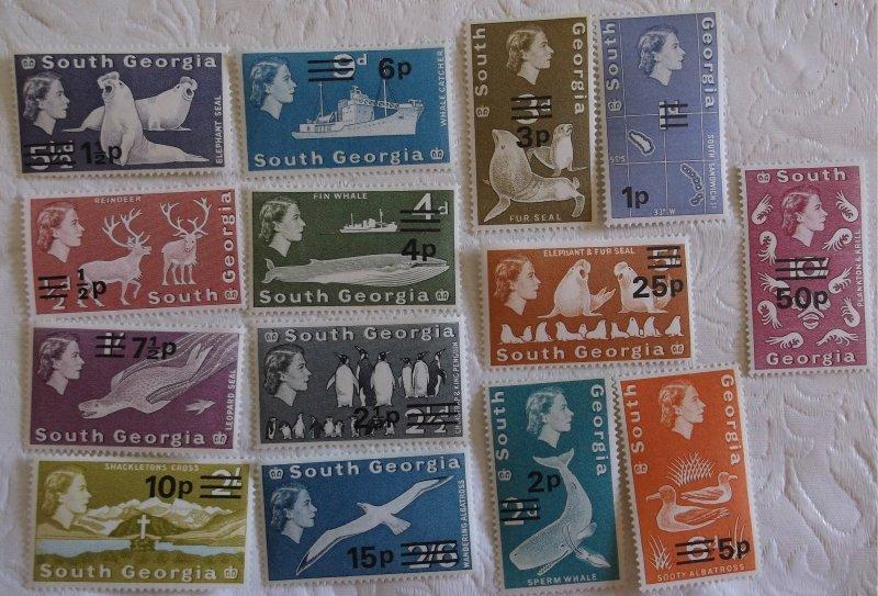 South Georgia 17-30 MNH Cat $69.75