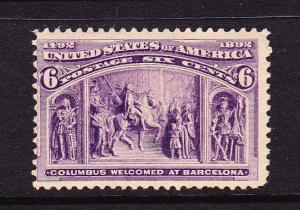 U.S 1893 6c COLUMBIAN MLH  #235