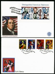 US 16 Large Colored First Day Stamp Covers