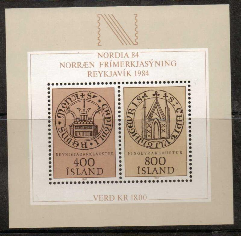 ICELAND SGMS619 1982  NORDICA 84 MNH