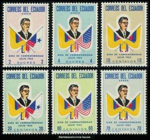 Ecuador Scott 691-693, C409-C411 Mint never hinged.