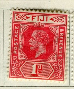 FIJI; 1912 early GV issue fine Mint hinged 1d. value