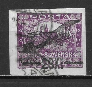 Czechoslovakia C3 28k Surcharges single Used